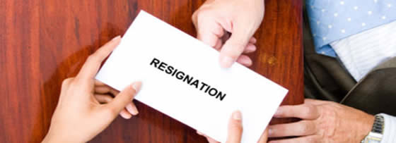 resignation and wrongful termination